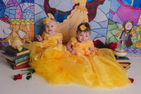Kaiya and Oaklynne mini session as Belle!!